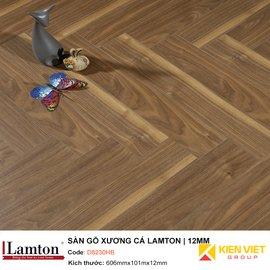 Sàn gỗ Xương Cá Lamton D8230HB Brown Parquet| 12mm