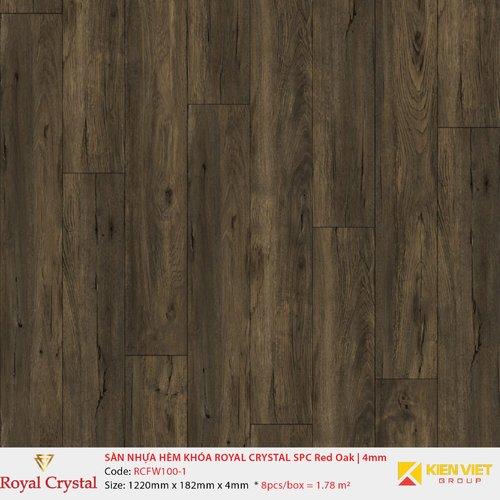 Sàn nhựa hèm khóa Royal Crystal SPC Red Oak RCFW100-1 | 4mm
