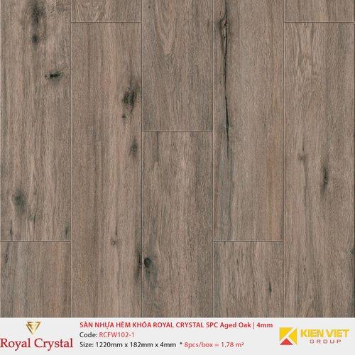Sàn nhựa hèm khóa Royal Crystal SPC Aged Oak RCFW102-1 | 4mm
