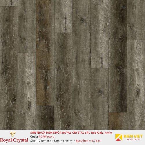 Sàn nhựa hèm khóa Royal Crystal SPC Red Oak RCFW109-2 | 4mm