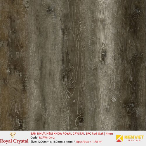 Sàn nhựa hèm khóa Royal Crystal SPC Red Oak RCFW109-2 | 4mm