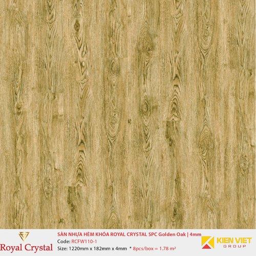 Sàn nhựa hèm khóa Royal Crystal SPC Golden Oak RCFW110-1 | 4mm