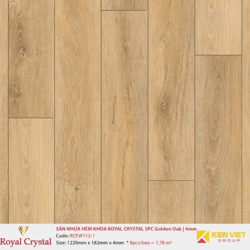 Sàn nhựa hèm khóa Royal Crystal SPC Golden Oak RCFW112-1 | 4mm