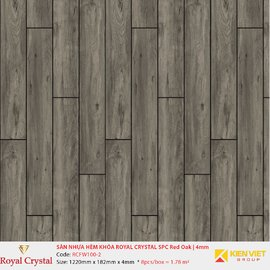 Sàn nhựa hèm khóa Royal Crystal SPC Red Oak RCFW100-2 | 4mm