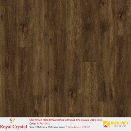 Sàn nhựa hèm khóa Royal Crystal SPC Classic Oak RCFW104-2 | 4mm