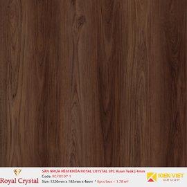 Sàn nhựa hèm khóa Royal Crystal SPC Asian Teak RCFW107-1 | 4mm