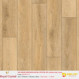 Sàn nhựa hèm khóa Royal Crystal SPC Golden Oak RCFW112-1 | 4mm