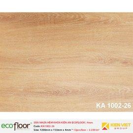 Sàn nhựa hèm khóa Kiên An EcoFloor SPC KA1002-26 | 4mm