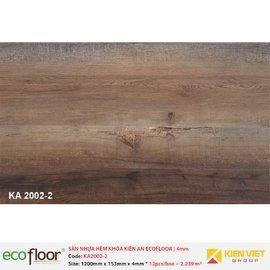Sàn nhựa hèm khóa Kiên An EcoFloor SPC KA2002-2 | 4mm