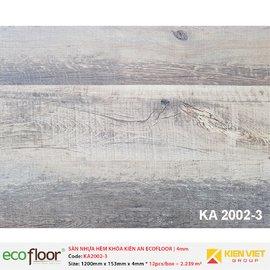 Sàn nhựa hèm khóa Kiên An EcoFloor SPC KA2002-3 | 4mm