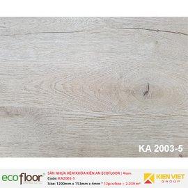 Sàn nhựa hèm khóa Kiên An EcoFloor SPC KA2003-5 | 4mm