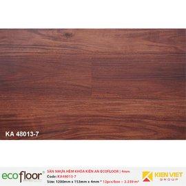 Sàn nhựa hèm khóa Kiên An EcoFloor SPC KA48013-7 | 4mm