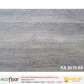 Sàn nhựa hèm khóa Kiên An EcoFloor SPC KA5018-6A | 4mm