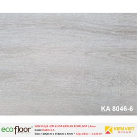 Sàn nhựa hèm khóa Kiên An EcoFloor SPC KA8046-6 | 4mm