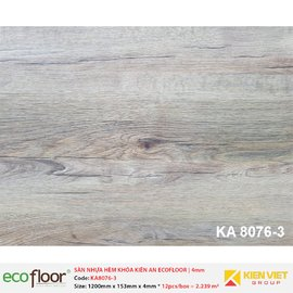 Sàn nhựa hèm khóa Kiên An EcoFloor SPC KA8076-3 | 4mm
