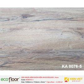 Sàn nhựa hèm khóa Kiên An EcoFloor SPC KA8076-5 | 4mm