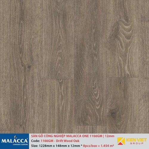 Sàn gỗ công nghiệp Malacca ONE 1166GM Drift wood Oak   12mm