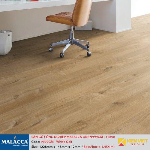 Sàn gỗ công nghiệp Malacca ONE 9999GM White Oak   12mm