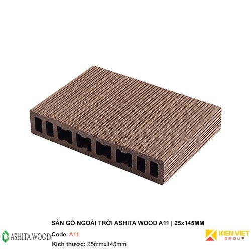Sàn gỗ nhựa ngoài trời Ashita Wood A11 | 25x145mm