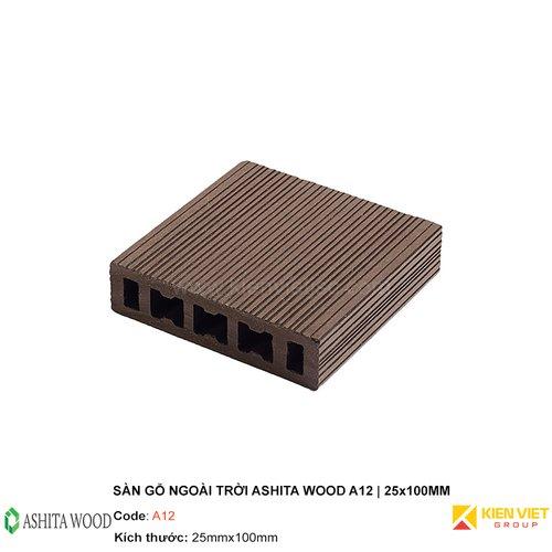 Sàn gỗ nhựa ngoài trời Ashita Wood A12   25x100mm