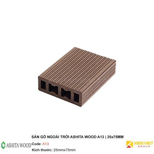 Sàn gỗ nhựa ngoài trời Ashita Wood A13   25x75mm