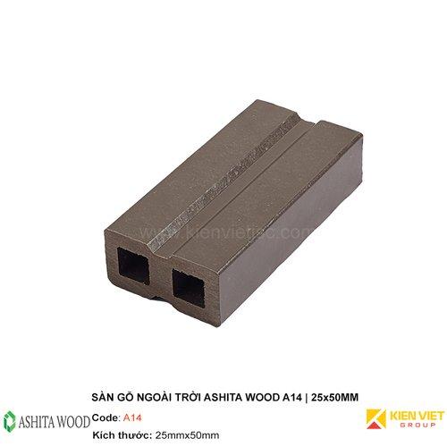 Thanh xương gỗ nhựa Ashita Wood A14   25x50mm