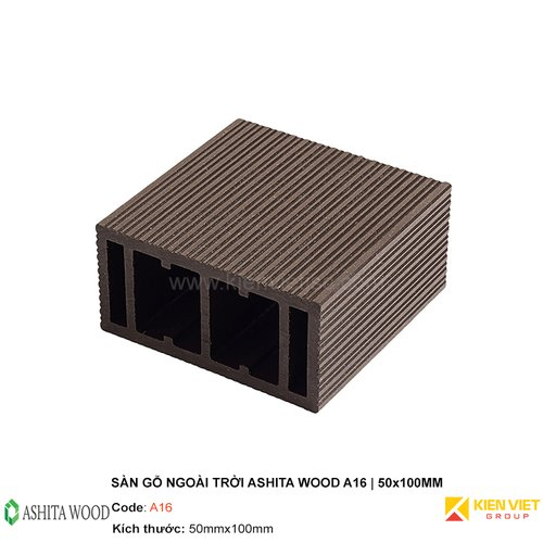 Thanh lam gỗ nhựa Ashita Wood A16   50x100mm