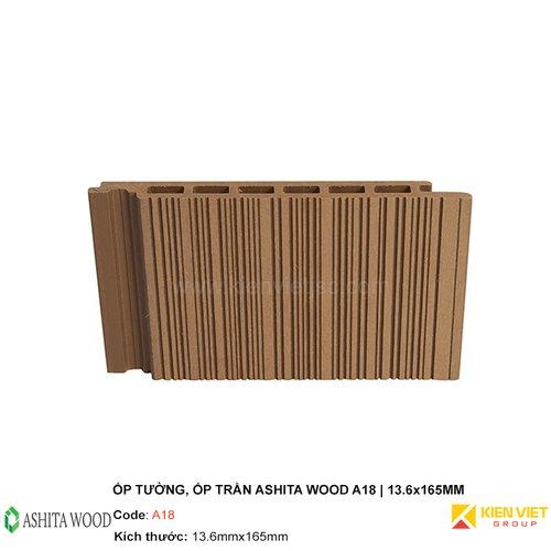Ốp tường, ốp trần gỗ nhựa Ashita Wood A18 | 13.6x165mm
