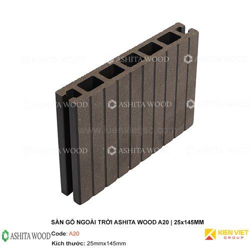 Sàn gỗ nhựa ngoài trời Ashita Wood A20 | 25x145mm