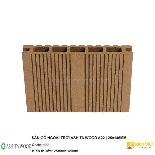 Sàn gỗ nhựa ngoài trời Ashita Wood A22 | 25x145mm