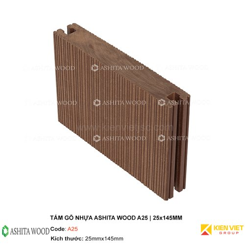 Sàn gỗ nhựa ngoài trời Ashita Wood A25   25x145mm