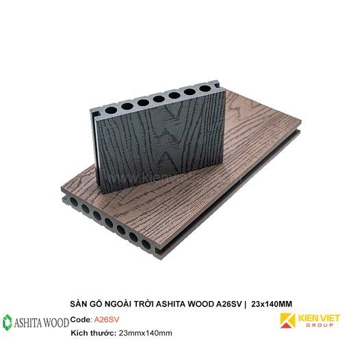 Sàn gỗ nhựa ngoài trời Ashita Wood A26SV | 23x140mm