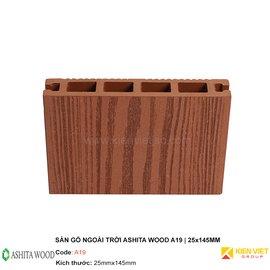 Sàn gỗ nhựa ngoài trời Ashita Wood A19 | 25x145mm