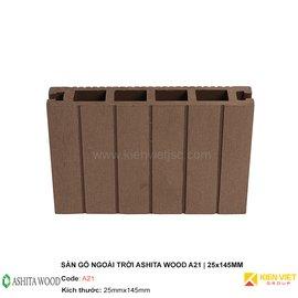 Sàn gỗ nhựa ngoài trời Ashita Wood A21 | 25x145mm