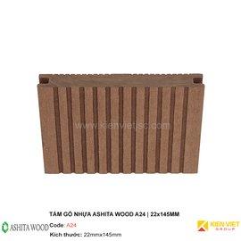 Sàn gỗ nhựa ngoài trời Ashita Wood A24 | 22x145mm