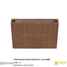 Sàn gỗ nhựa ngoài trời Ashita Wood A25 | 25x145mm