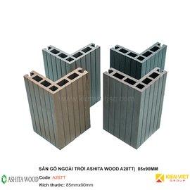 Sàn gỗ nhựa ngoài trời Ashita Wood A28TT | 85x90mm