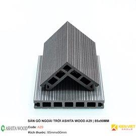 Sàn gỗ nhựa ngoài trời Ashita Wood A29  85x90mm