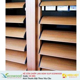 Hệ cửa chớp lan xoay elip Ecowood CC-001