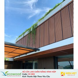 Hệ cửa lan chắn nắng hình hộp Ecowood CC-003