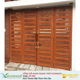 Cổng gỗ nhựa ngoài trời Ecowood EC-001