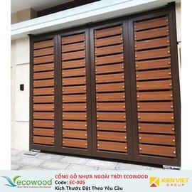 Cổng gỗ nhựa ngoài trời Ecowood EC-005
