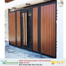 Cổng gỗ nhựa ngoài trời Ecowood EC-007