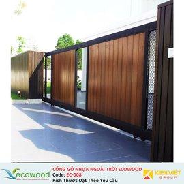 Cổng gỗ nhựa ngoài trời Ecowood EC-008
