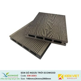 Sàn gỗ ngoài trời 3D rỗng EcoWood EW-3D03 | 146x24mm