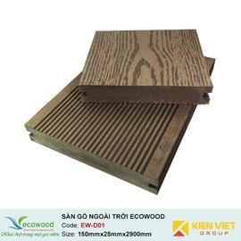 Sàn gỗ ngoài trời đặc EcoWood EW-D01 | 150x25mm