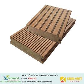 Sàn gỗ ngoài trời đặc EcoWood EW-D07 | 95x23mm