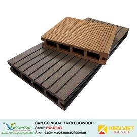 Sàn gỗ ngoài trời rỗng EcoWood EW-R01B | 140x25mm