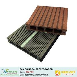 Sàn gỗ ngoài trời rỗng EcoWood EW-R05 | 138x23mm