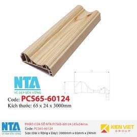 Phào cửa sổ NTA PCS65-60124 | 65x24mm